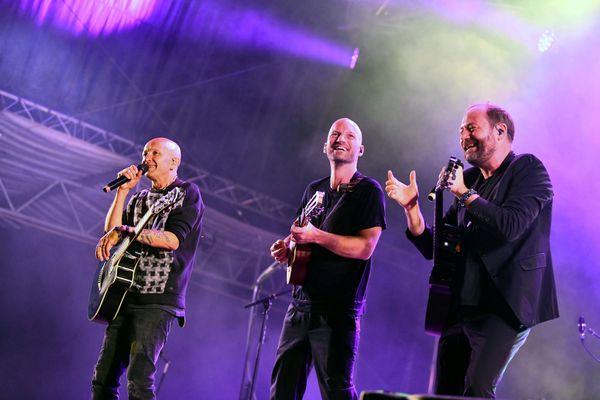 Le groupe Tryo sera sur scène à la Cuvée Givrée le mercredi 29 décembre 2021 à Colmar, après avoir été l'un des groupes les plus programmés cet été, comme ici à l'Ecaussysteme de Gignac (Lot) en août.