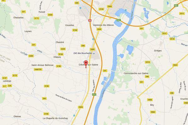 L'accident s'est produit aux alentours de 23 heures sur la commune de Crêches-sur-Saône