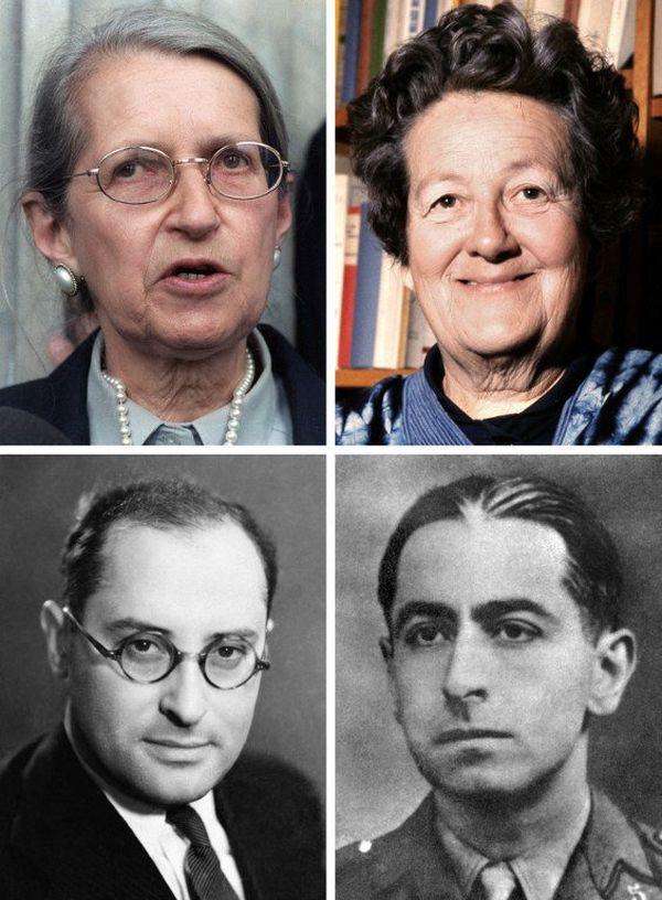 Les 4 figures de la Résistance à rentrer au Panthéon le 27 mai 2015  : Geneviève de Gaulle-Anthonioz, Germaine Tillion, Jean Zay et Pierre Brossolette.