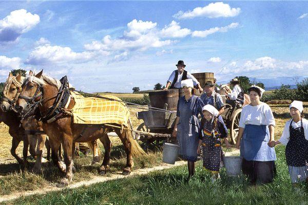 """La fête du """"Glickhampfala"""" remettait en valeur les traditions sundgauviennes d'antan"""
