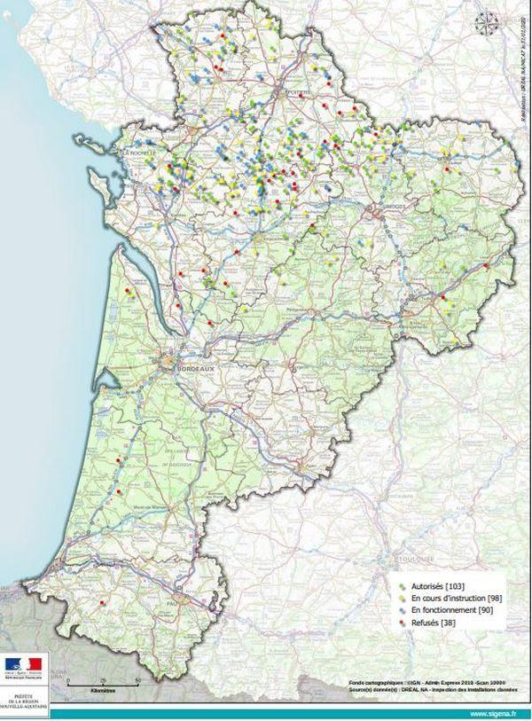 90% des éoliennes en Nouvelle-Aquitaine sont implantées en Poitou-Charente