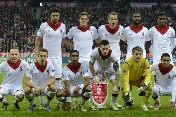 L'équipe du LOSC avant le match de Ligue des champions face au Bayern.