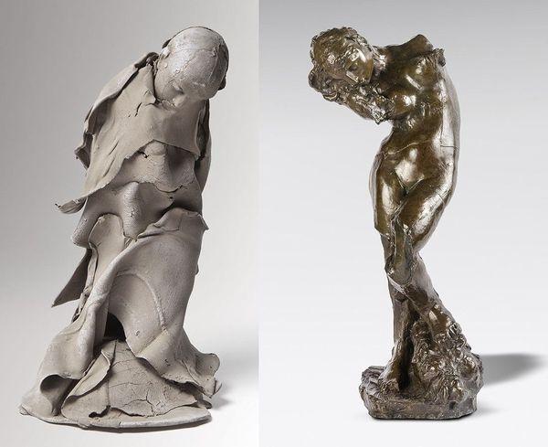 Sculptures de Georges Jeanclos et Auguste Rodin : la méditation ou voix intérieure