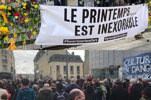 """A Caen et Cherbourg, manifestation ce samedi 20 mars dans le cadre du mouvement """"Le printemps est inexorable"""""""