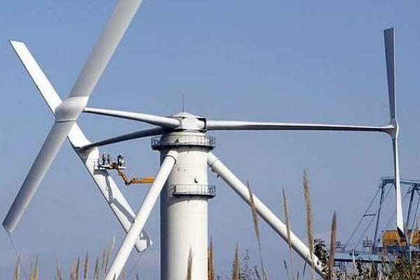 C'est ce type d'éolienne à axe vertical qui va être installé en mer.