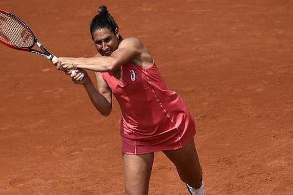 La Nîmoise Virginie Razzano au tournoi de Roland-Garros - 25 mai 2015.