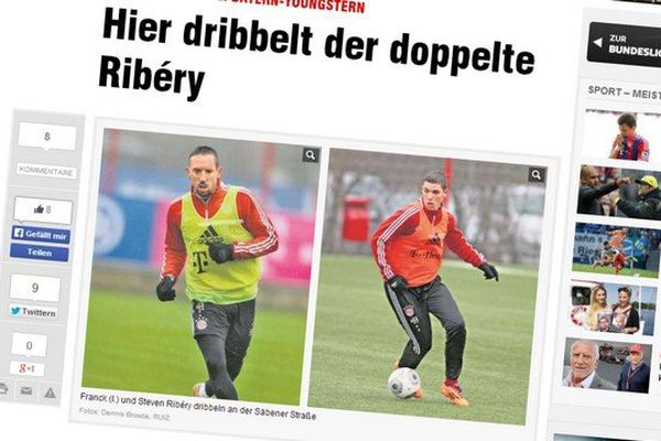 Les frères Ribéry dans le journal allemand Bild.