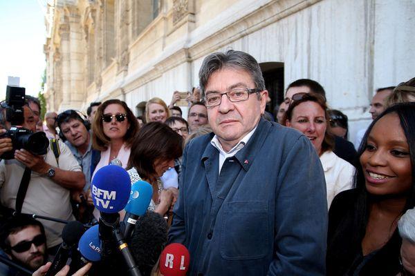 Jean-Luc Mélenchon en campagne à Marseille.