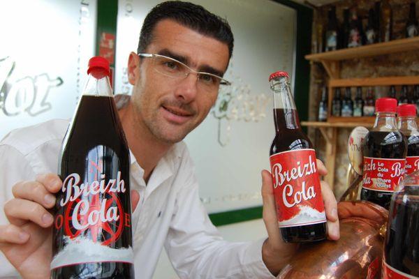 Archives- Stephane Kerdode, l'un des deux associés et fondateurs de Breizh Cola . Il devient actionnaire minoritaire après 18 ans au service du soda vedette, pour se consacrer pleinement à sa distillerie de whisky breton