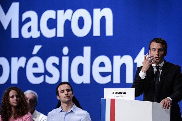 Emmanuel Macron en meeting à Besançon