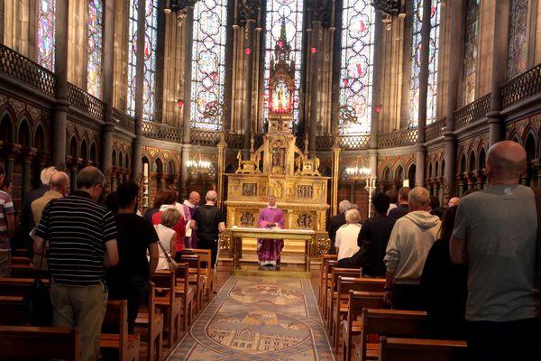 Un rassemblement avait déjà eu lieu le 26 juillet à la cathédrale de Lille en hommage à Jacques Hamel.