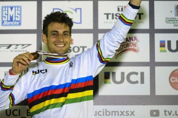 Joris Daudet avait été sacré champion du Monde de BMX à Medellin (Colombie) le 29 mai.