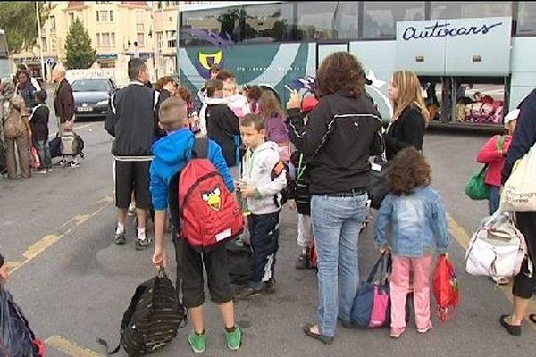Dans la Marne, des bus sont partis depuis Reims, Châlons-en-Champagne et Epernay.