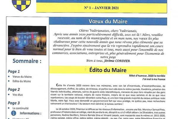 Polémique à Saint-Valérien après la publication d'un texte du Maire dans le bulletin municipal.