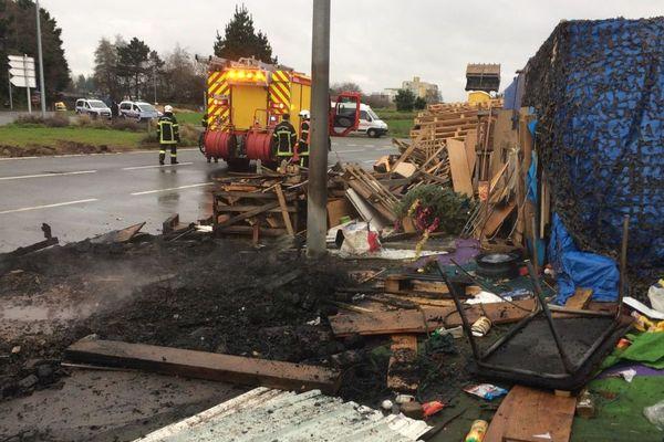 Le campement des Gilets jaunes au rond-point de Pen-ar-C'hleuz à Brest a été évacué ce jeudi 13 décembre par les policiers et les services de l'État