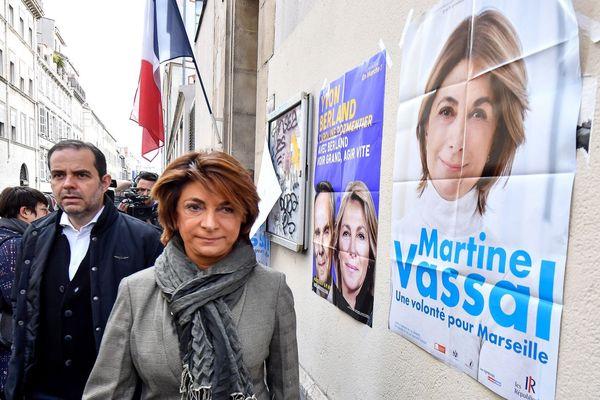 Illustration. Martine Vassal, candidate LR à la mairie de Marseille, le 15 mars 2020.