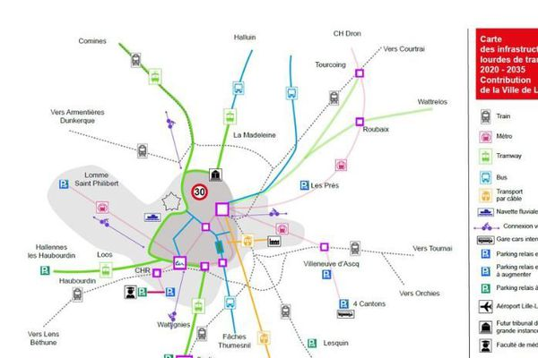 Le plan des modifications souhaitées par le groupe socialiste de la mairie de Lille