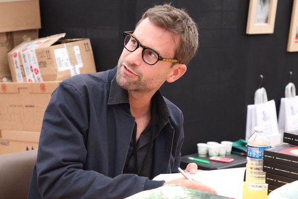 L'auteur Lorrain Nicolas Mathieu, Goncourt 2018, lors du Livre sur la Place 2018 à Nancy (Meurthe-et-Moselle).