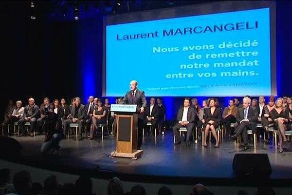 La liste de Laurent Marcangeli est quasiment la même que celle élue en mars.