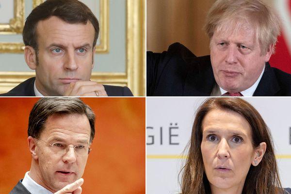 Outre Emmanuel Macron, le Britannique Boris Johnson, le Néerlandais Mark Rutte et la Belge Sophie Wilmès se sont également adressés à leur peuple.