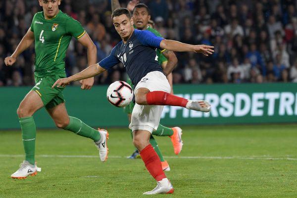Wissam Ben Yedder en juin, sous les couleurs de l'équipe de France lors du match amical France Bolivie à Nantes.