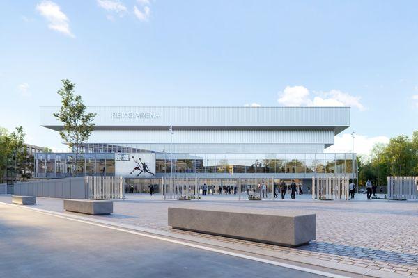 La future aréna rémoise pourra accueillir jusqu'à 9000 spectateurs pour les spectacles et 5500 personnes en configuration basket.