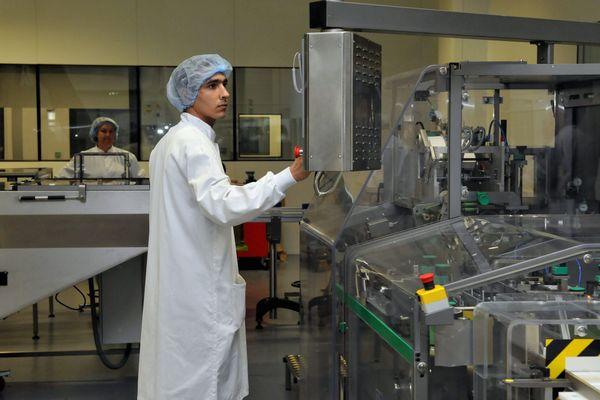 Laboratoire cosmétique  Pierre Fabre de Soual dans le Tarn