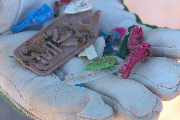 Il n'y avait pas forcément de gros déchets mais de nombreux morceaux de plastiques divers et variés tout aussi polluants.