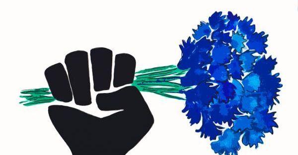 Des fleurs comme un symbole d'espoir pour la réouverture des lieux de culture.