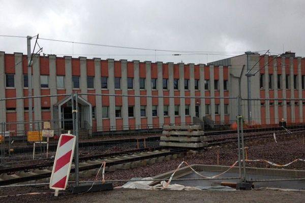 Le poste de contrôle CFL de Bettembourg (Lux) où l'inondation a interrompu toutes les commandes électriques.