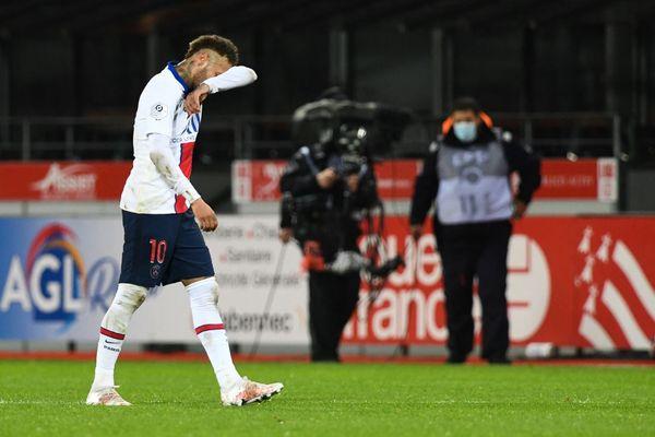 Neymar, lors de la victoire du PSG face à Brest (0-2), dimanche soir.