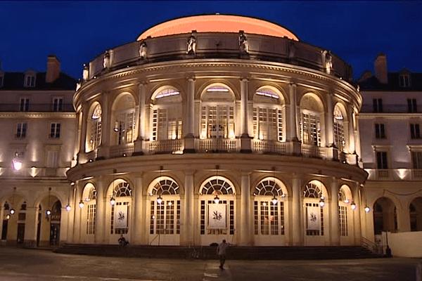 L'opéra de Rennes, la nuit