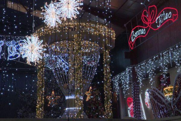 Décorations de Noël proposées par le société Illuminations services