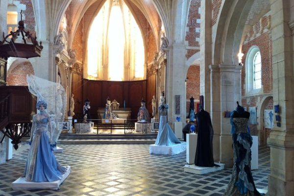 Quelques-unes des 17 créations exposées à la Chapelle d'Eu