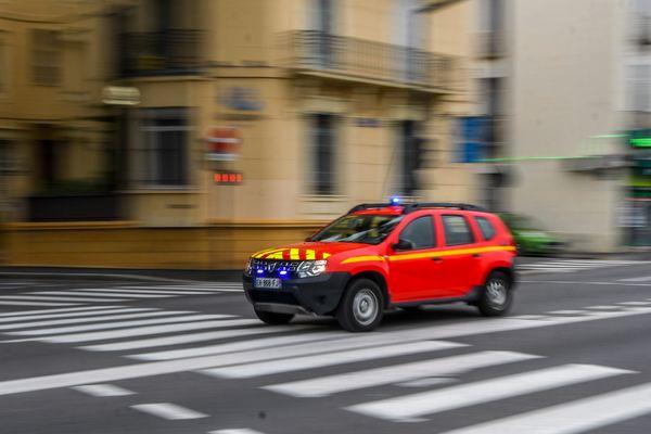 Un véhicule des sapeurs-pompiers des Pyrénées-Orientales, le 12 mai 2020 à Perpignan (photo d'illustration).