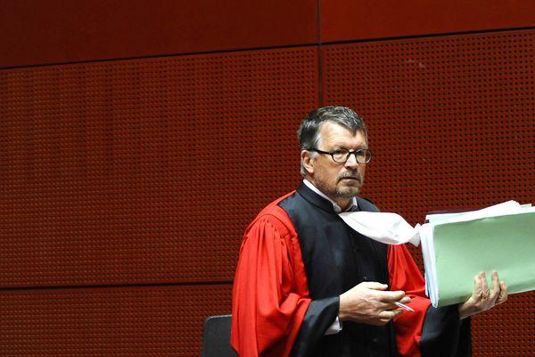Dominique Pannetier, président de la Cour, lors de l'ouverture de procès de Gilles patron