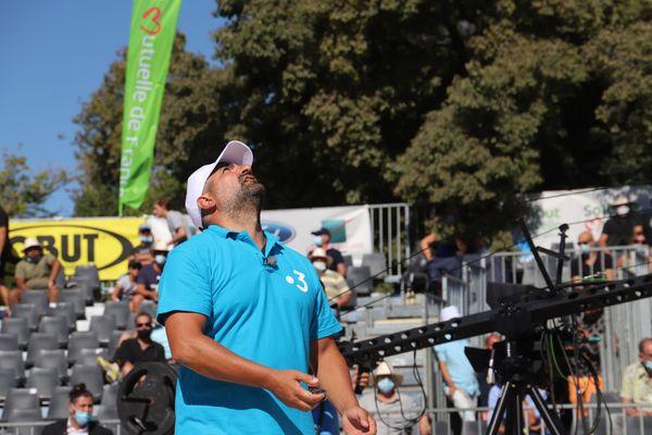 Mondial La Marseillaise à pétanque 2020 : Frédéric Kasbarian lors du 5e tour