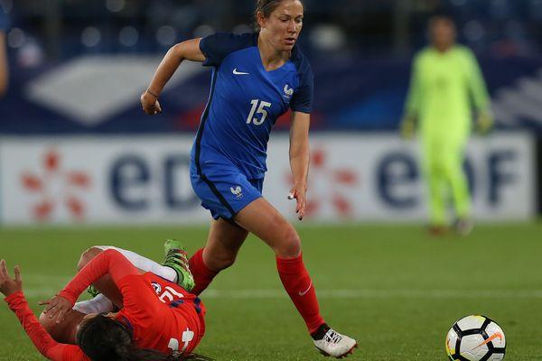 Elise Bussaglia est la doyenne de l'équipe de France