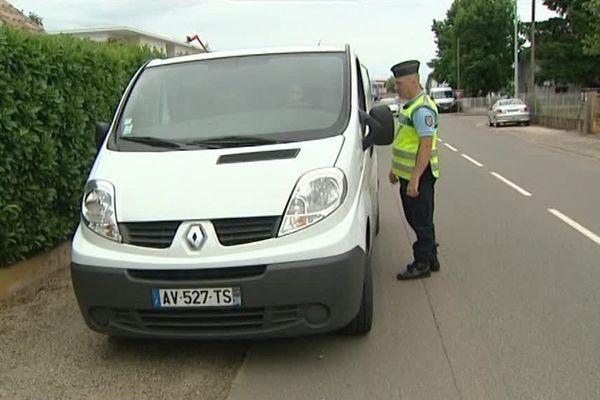 Un contrôle routier à Crêches-sur-Saône, en Saône-et-Loire - 30 juin 2017