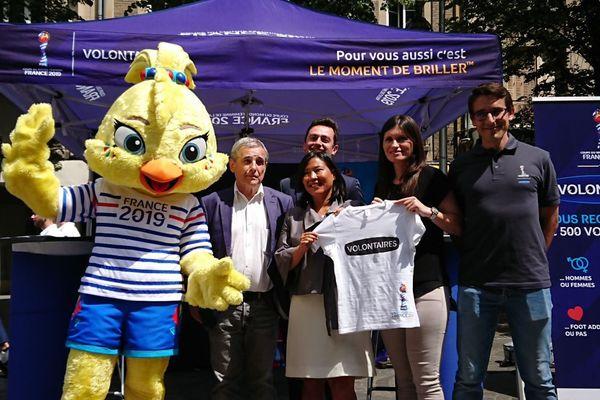 Le comité organisateur de la Coupe du monde 2019 s'est déplacé à Reims, le 30 mai, pour lancer l'opération recrutement des volontaires.