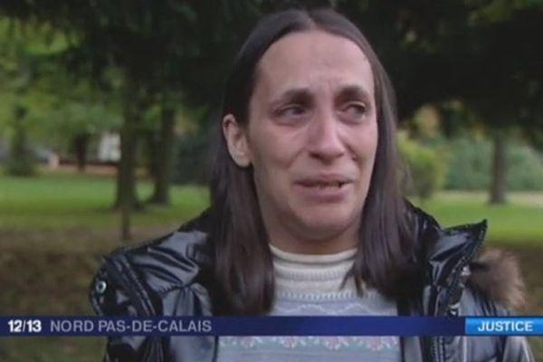 """Chritelle Van Becelaert, mère de Thomas, le faux """"clown""""."""