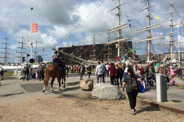 L'un des quais des Grandes Voiles du Havre le 31 août 2017