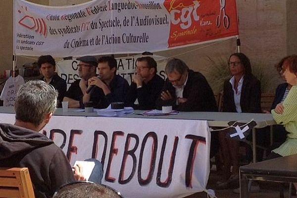 Montpellier - conférence de presse à l'Agora - 30 mai 2016.
