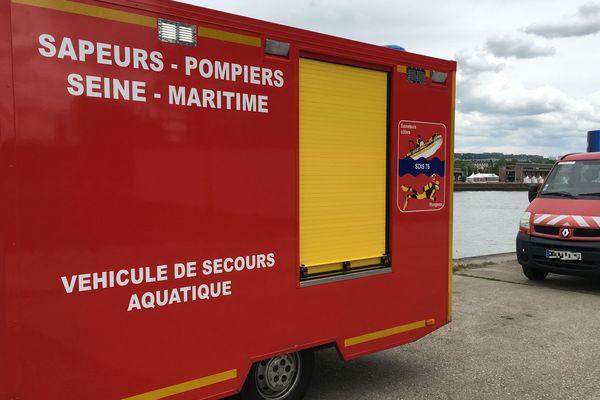 Intervention des pompiers 76 en milieu aquatique / Archives