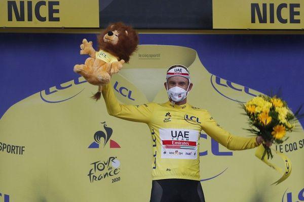 Le sprinteur norvégien Alexander Kristoff (UAE Emirates), vainqueur de la première étape du Tour de France 2020 à Nice, samedi 29 août