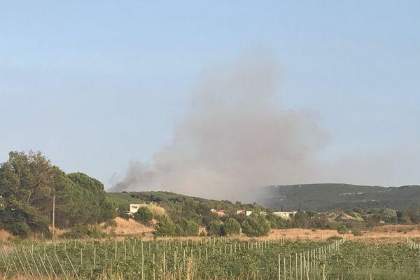 Un incendie important s'est déclaré sur la commune de Bizanet, dans l'Aude - 7 septembre 2017
