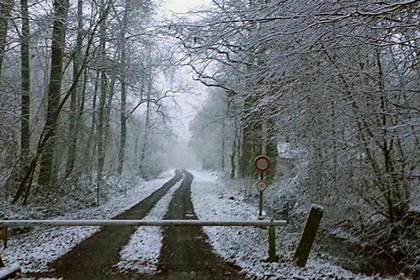 Neige au Nouvion-en-Thiérache ce mercredi 3 décembre.