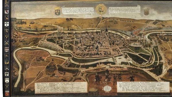 Le siège Poitiers par l'amiral Gaspard de Coligny en 1569 (François Nautré, 1619) / collection des Musées de Poitiers