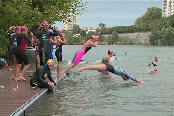 Pour la première fois, l'Open Swim Stars était organisée dans la Garonne