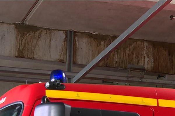 a caserne des pompiers de La Souterraine totalement vétuste